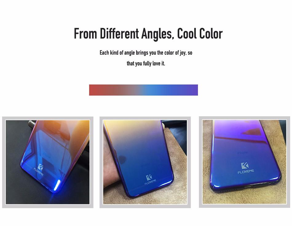 Floveme dla iphone 6 6s plus case 5 5S se gradient blue-ray światło case dla apple iphone 7 7 plus 5S jasne akcesoria pokrywa Capa 4