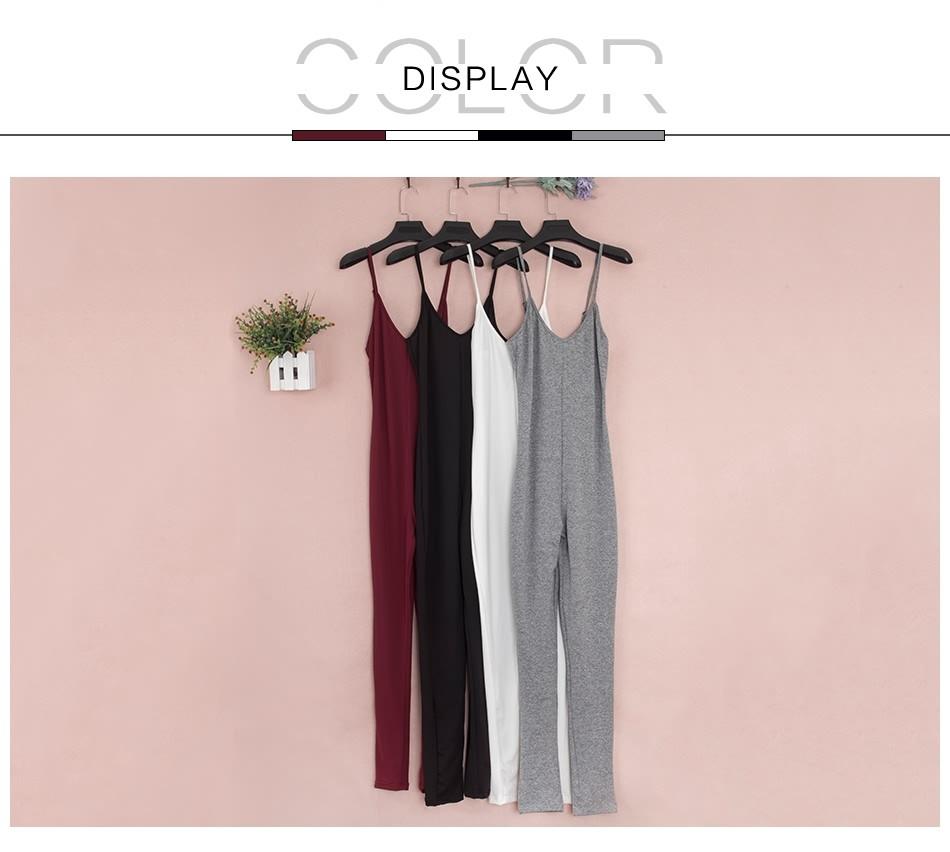 Sedrinuo 2017 lato new arrival regularne casual mody szyi sexy pajacyki kobiet kombinezon kombinezon dla kobiet 6 kolory 7160 9