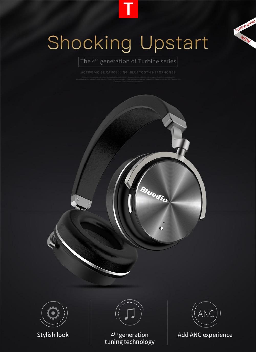 T4 bluedio aktywny hałasu anulowanie słuchawki bezprzewodowe bluetooth bezprzewodowy zestaw słuchawkowy z mikrofonem 1