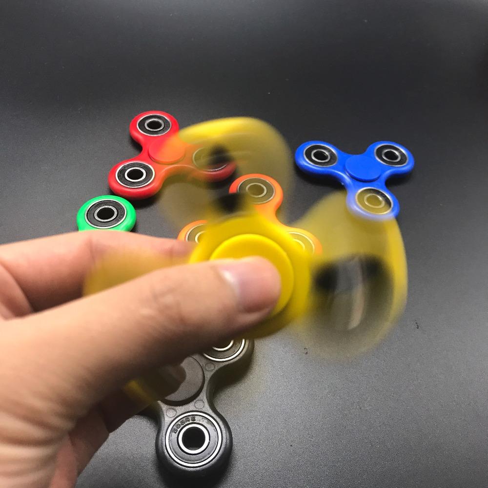 7 Kolory Koraliki Ceramiczne EDC Tri-Spinner Z Tworzywa Sztucznego Ręcznie Fidget Spinner Spinner Dla Autyzmu i ADHD Długi Czas Anty stres Zabawki 13