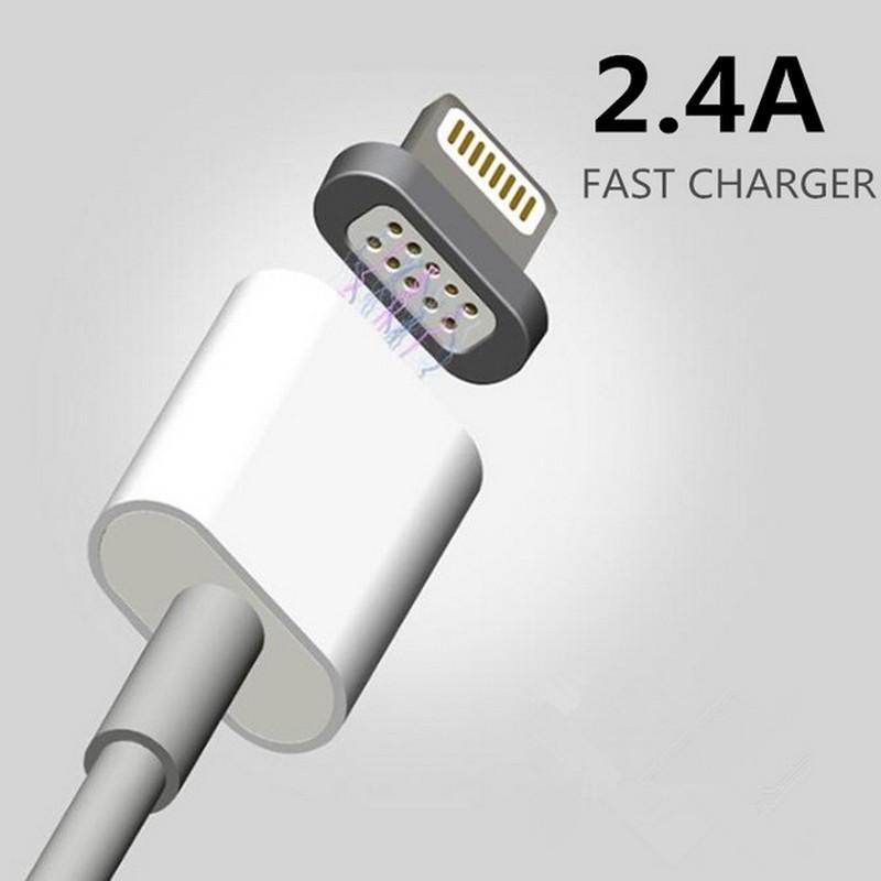 2.4a magnetyczny kabel micro usb cable dla iphone 6 6s 7 plus 5S 5 android samsung telefon komórkowy ładowania danych magnet ładowarka kabel 2