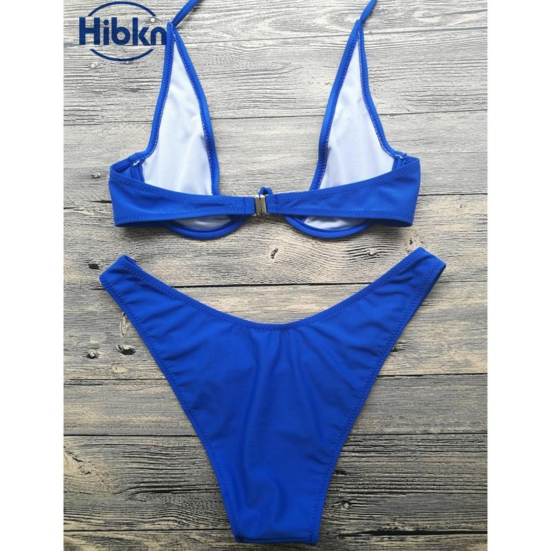 Bikini 2017 wysoka cut stringi stroje kąpielowe kobiety Brazylijski Biquini strój kąpielowy wysokiej talii strój kąpielowy Stałe pływać plaża micro bikini set 10
