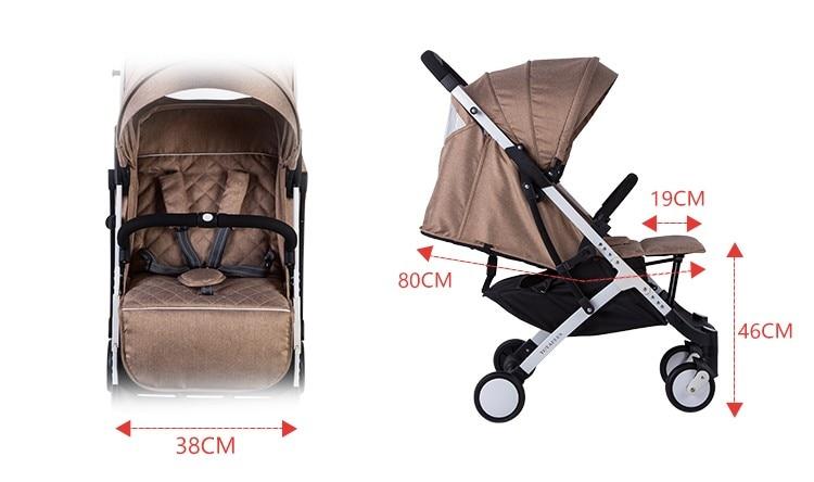 YOYA PLUS wózków dziecięcych ultra lekkie składane mogą usiąść może leżeć wysokiej krajobrazu parasol wózek dla dziecka latem i zimą 17