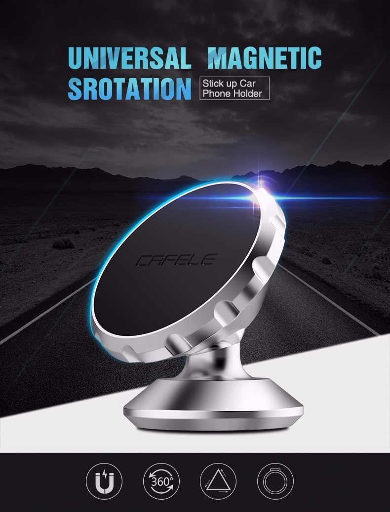 Cafele Oryginalny Uniwersalny Magnes Magnetyczne Telefon Samochodowy Uchwyt Obrót O 360 Stopni Uchwyt Samochodowy Uchwyt dla iPhone Samsung Smart Phone 1