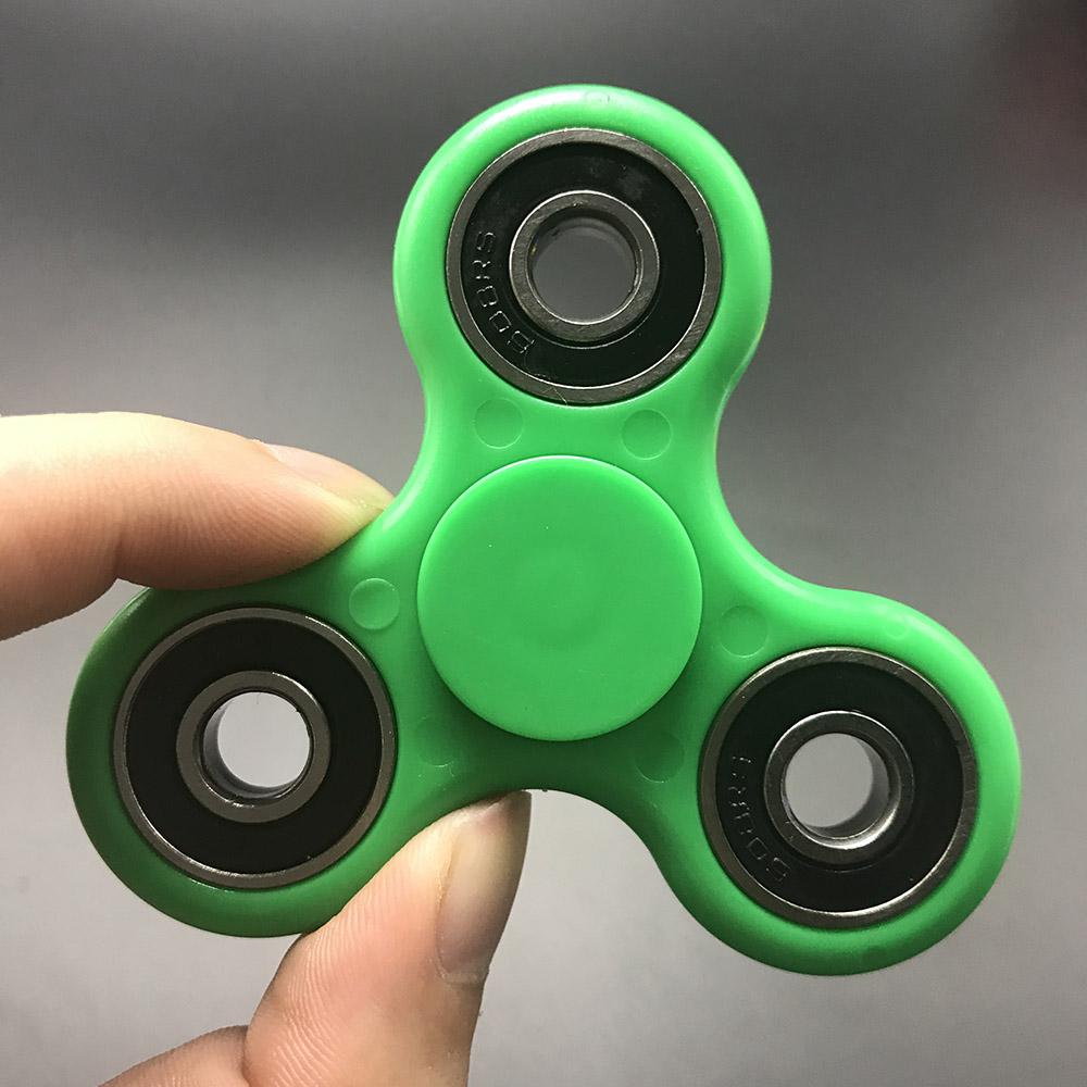7 Kolory Koraliki Ceramiczne EDC Tri-Spinner Z Tworzywa Sztucznego Ręcznie Fidget Spinner Spinner Dla Autyzmu i ADHD Długi Czas Anty stres Zabawki 18