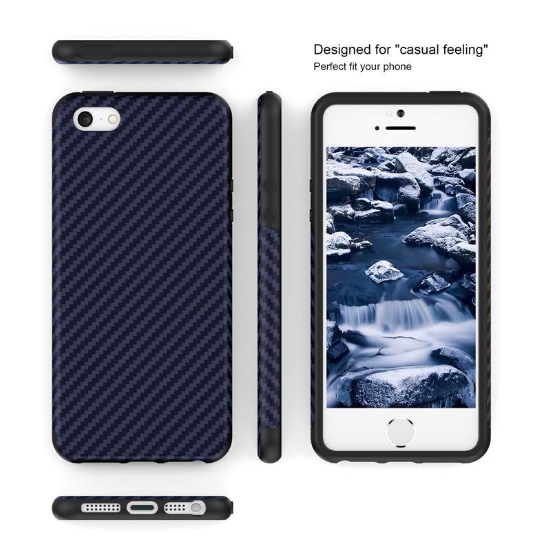 Luksusowe Elegent Wysokiej Jakości Włókna Węglowego Miękki Futerał Dla iPhone 5 5S SE Skórzana Skóry Tekstury Opon 3D Obrońca Pokrywa Dla iPhone SE 10