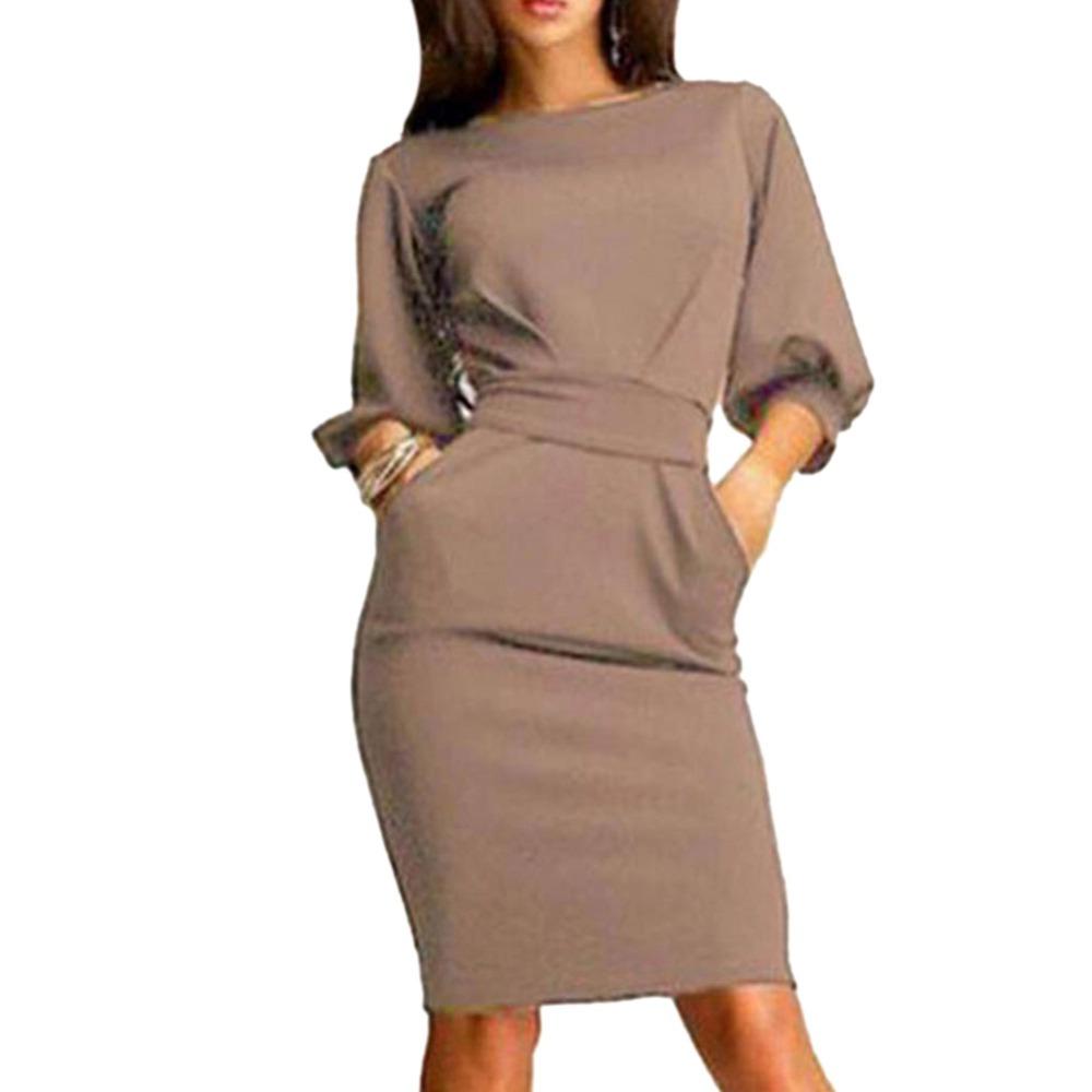 2017 jesień dress kobiety moda casual mini dress solid color krótki rękaw szyi kobiety dress dwie boczne kieszenie czarne sukienki 7