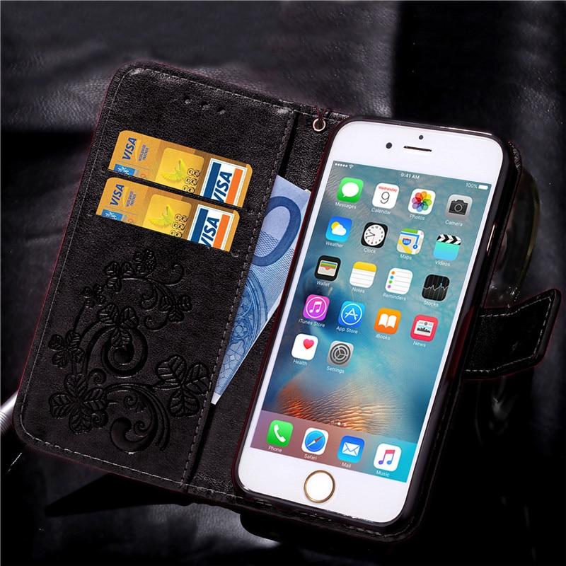 Dla iphone 7 plus 4S 5S 4 5 6 s skórzane etui z klapką case do samsung galaxy a3 a5 j3 j5 2016 j1 s6 s7 s3 s4 s5 mini grand prime pokrywa 28
