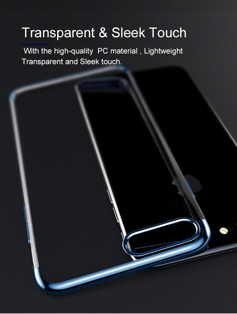 Baseus pc hard case dla iphone 7 pokrywa dla iphone 7 plus case anti-scratch galwanizacja telefon torba ochronna shell coque 6