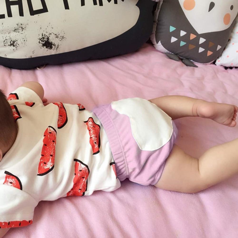 0-2 lat Dziecko Chłopcy Dziewczyny Bielizna Letnie Dzieci Dziecko Płci męskiej i żeńskiej Miłość Bawełna Chleb Dziecko's Dla spodenki Spodnie 5