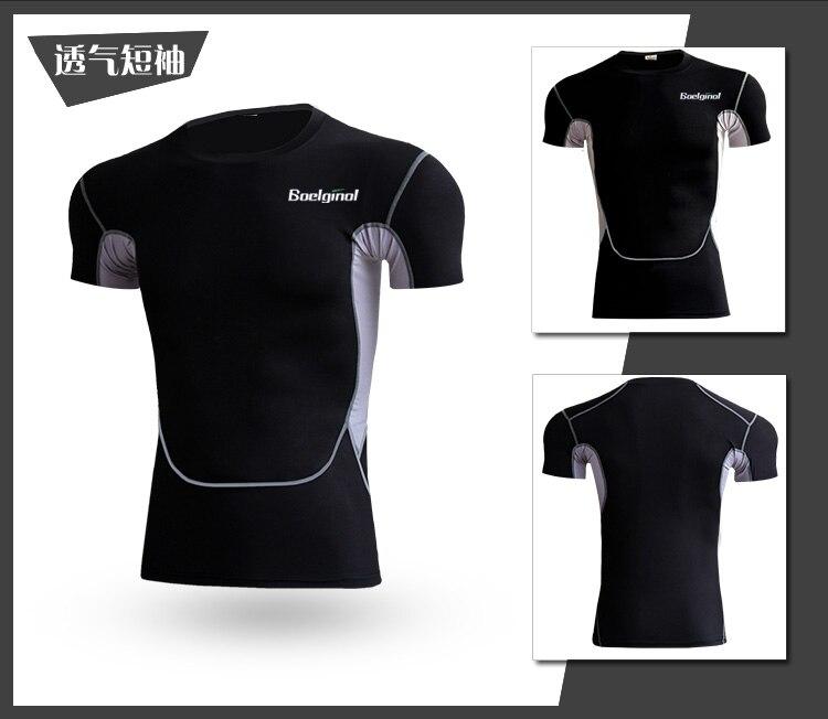 3 Sztuk Ubrania Męskie Kombinezony Sportowe Do Biegania Dla Mężczyzn Krótki kompresja Rajstopy Gym Fitness T Shirt Przycięte Spodnie Szybkie Pranie zestawy 3