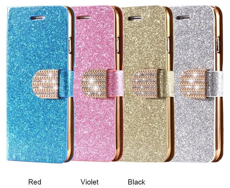 Kisscase dla iphone 5s case glitter bling skórzane etui dla iphone 5 5s se 6 6 s 7 plus stań portfel pokrywa dla iphone 7 7 plus SE 10