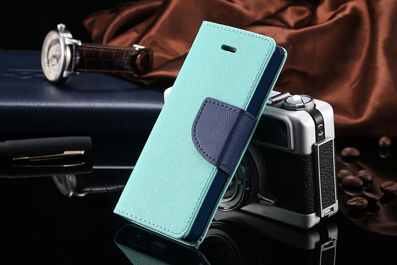 Podwójny kolor klapki skóra telefon torba case dla iphone 6 7 6 s plus 5 5S se gniazda kart + stojak kabura pokrowiec case dla iphone 7 6 6 s 46