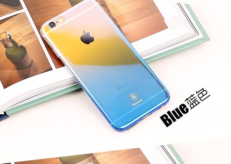 Baseus telefon case for iphone 6 6 s ultra płaski oświetlenie kolor gradientu twardy pc case for iphone 6 6 s plus coque tylna pokrywa shell 11