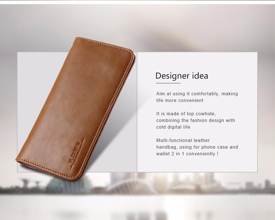 Floveme luksusowe retro skórzany portfel torby phone case do samsung s7 s6 s5 dla iphone 7 6 6 s plus se 5S 5 miękka pokrywa torebka marki 2