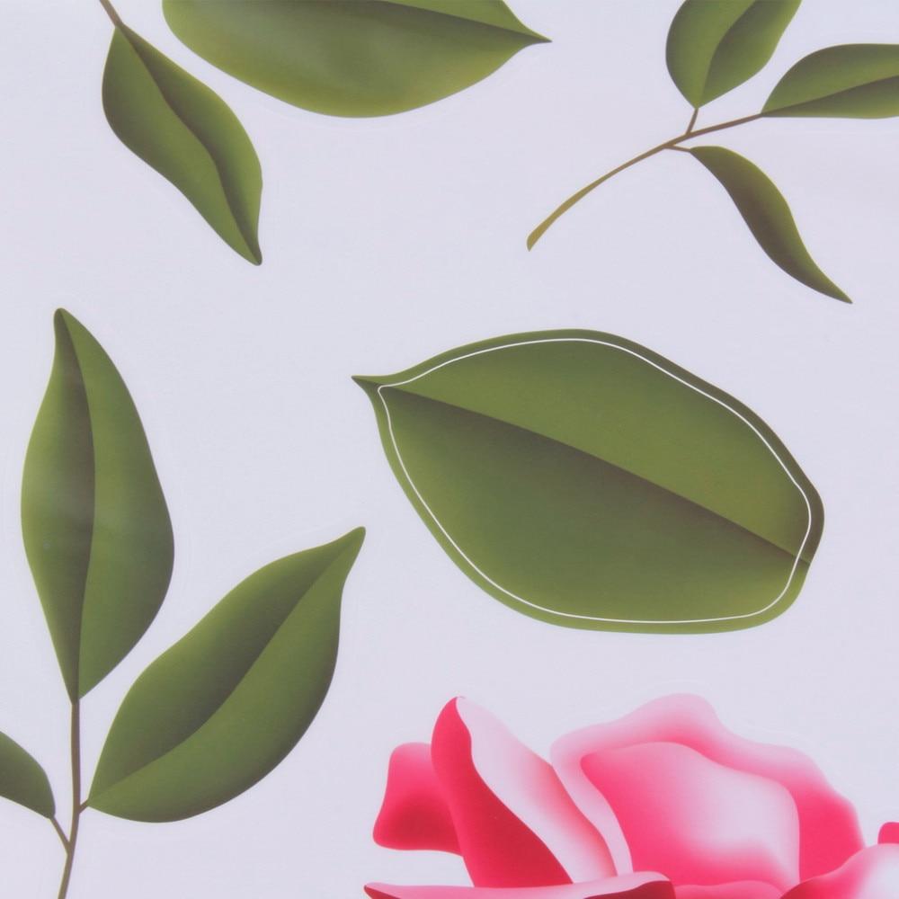2017 Nowy Arrical Naklejki Decoratifs Maison Romantyczna Miłość Rose Flower 3D Wymienny Naklejki Ścienne Home Decor Pokoju Kalkomanie 5