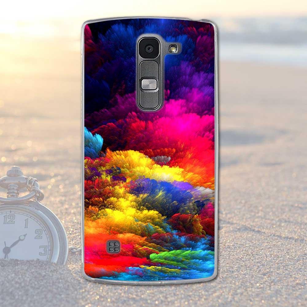 Fundas telefon case pokrywa dla lg spirit 4g lte h440y h422 h440n h420 miękka tpu kwiaty zwierzęta dekoracje telefon pokrywa dla lg duch 14