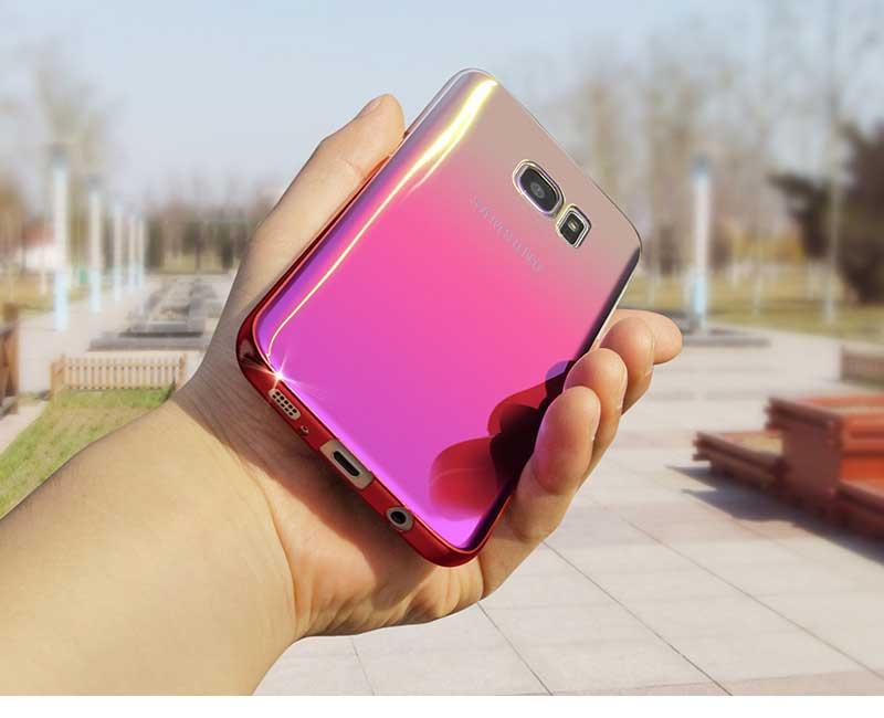 Kolorowe case do samsung galaxy s7 edge s8 plus s8 case gradientu kolor pc mocno plecy pokrywa dla samsung s8 s7 krawędzi case artisome 7