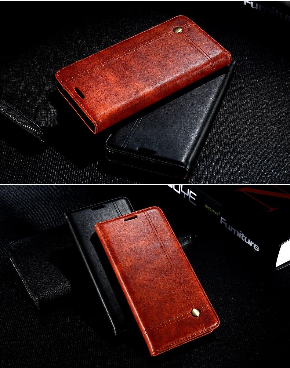 Deluxe floveme szlachetni mężczyźni skóra case dla iphone 6 plus 6s portfel pokrywa luksusowa brązowy odwróć kabura dla iphone 7 plus torby 13