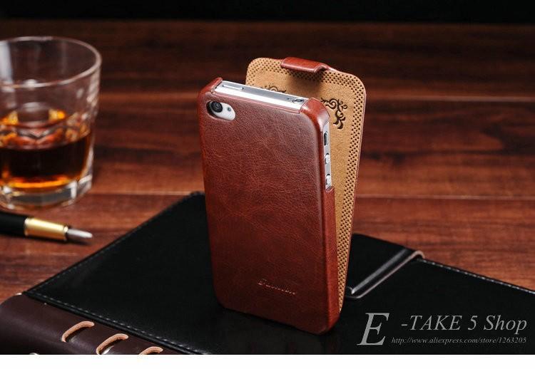 Pokrowiec case dla iphone 4 4s pu skóra pokrywa telefonu torba coque dla apple iphone 4s case luksusowe biznes styl tomkas 1