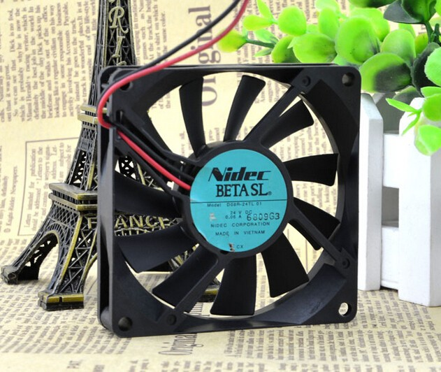 The original NIDEC D08R-24TL 01 8015 24V 0.06A mute hydraulic fan frequency converter