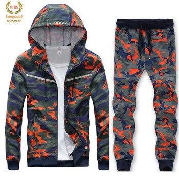 e1a7cfeef05d7e 2019 Mens Big Size L- 8XL sweat Suit Cool Style Hip Hop Camouflage—Free