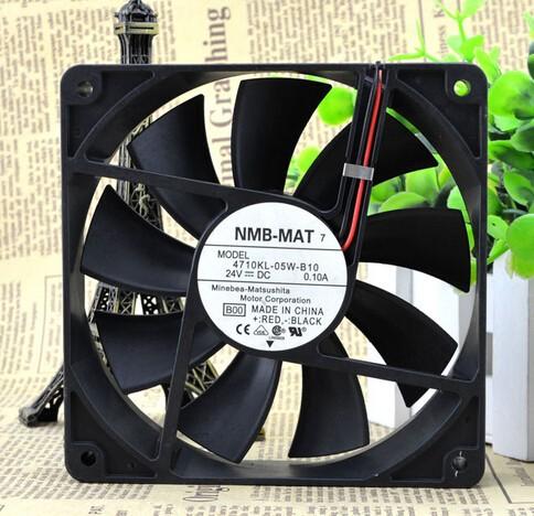Wholesale: NMB-MAT7 4710KL-05W-B10 125 12CM 24V 0.10A 2P converter cooling fan