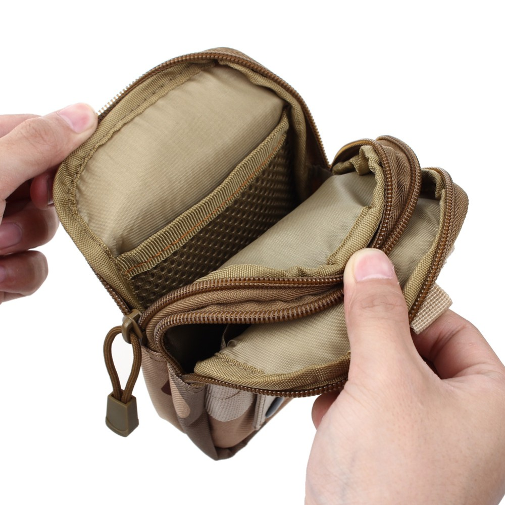 Uniwersalny Odkryty Wojskowy Molle Tactical Kabura Pasa Biodrowego Pasa Torba portfel kieszonki kiesy telefon etui z zamkiem błyskawicznym na iphone 7/lg 12