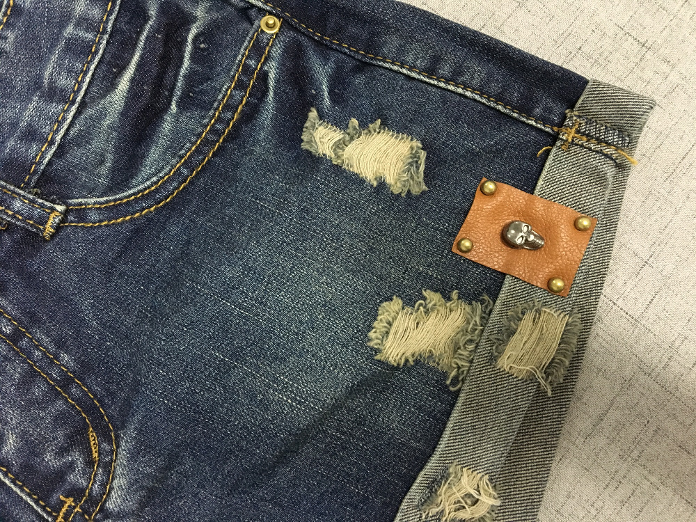 Vintage Club Denim Ripped Shorts 6