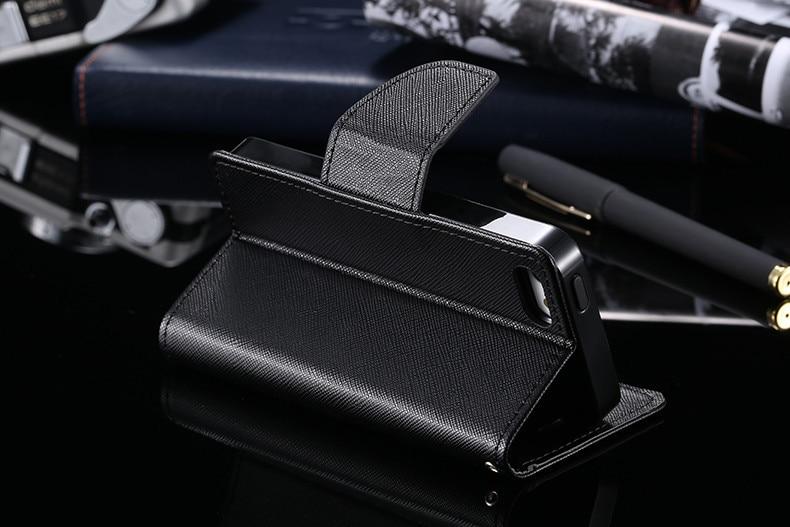 Podwójny kolor klapki skóra telefon torba case dla iphone 6 7 6 s plus 5 5S se gniazda kart + stojak kabura pokrowiec case dla iphone 7 6 6 s 45