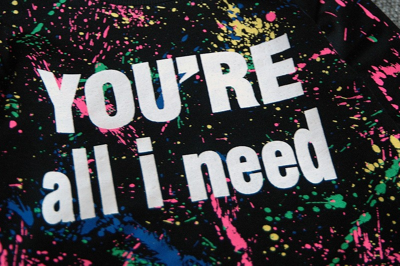 Ali Królik 2 SZTUK topy + spodnie Toddler dziewczyna odzież kolorowe drukowanie dziewczyny ubrania dres dziewczynek dzieci 2 3 4 5 lat 7 tkaniny 12