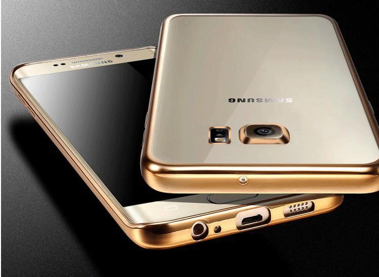 Coque dla samsung galaxy s6 edge s6 s7 s7 edge case wyczyść przezroczysty złocenie miękka tpu back cover dla samsung s6 edge case 5