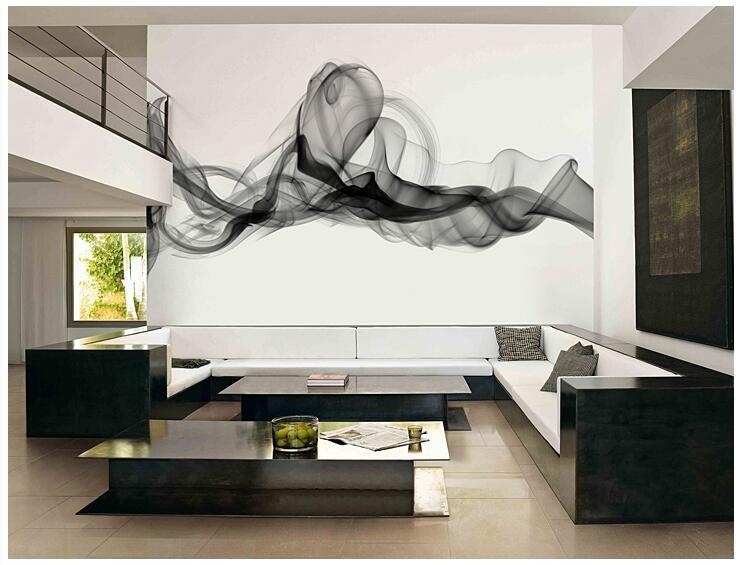 Niestandardowe 3D fototapety Dymu chmury streszczenie artystyczny fototapeta tapeta nowoczesna minimalistyczna sypialnia sofa TV obraz papier 9