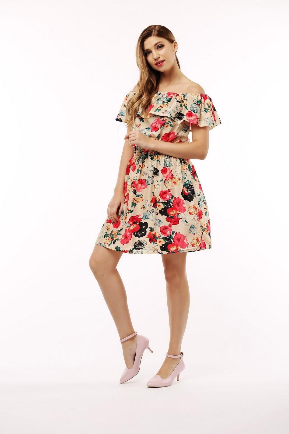 2017 fashion nowa wiosna lato plus size odzież kobiet floral print wzór sukienki na co dzień vestidos wc0472 19
