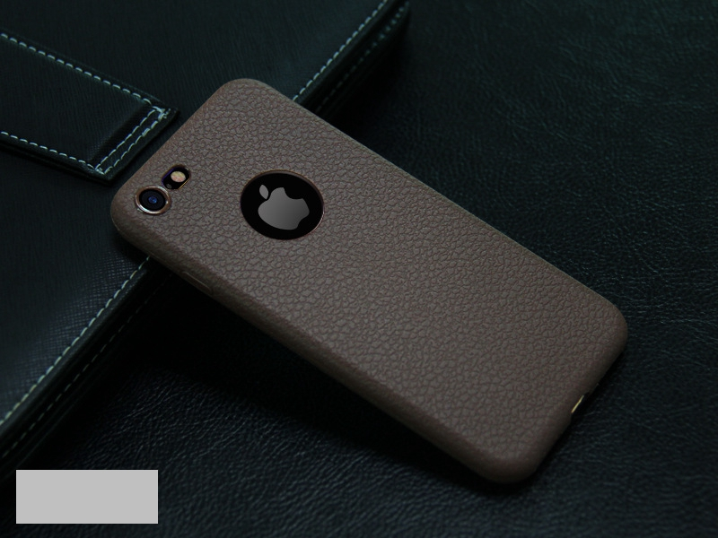 Dla iphone 7 plus iphone 7 case silicon ultracienkich tpu miękka skóra wzór case dla iphone 6 6s plus logo hole back cover czarny 19