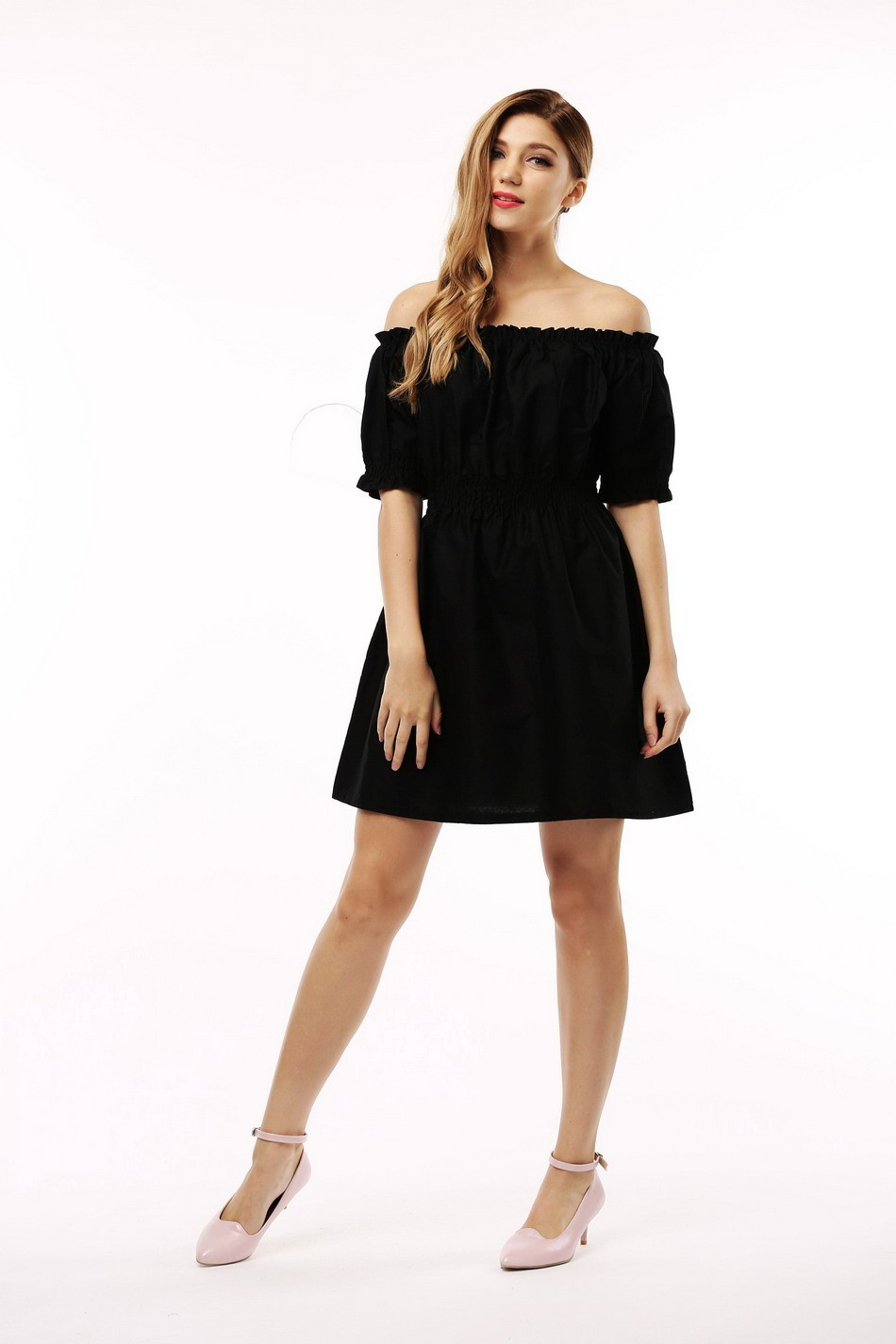 100% bawełna nowy 2017 jesień lato kobiety dress krótki rękaw casual sukienki plus size vestidos wc0380 12