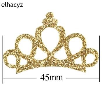 dae536939c 6pcs/lot 2018 NEW Pretty Glitter Felt Princess Handmade DIY Crown