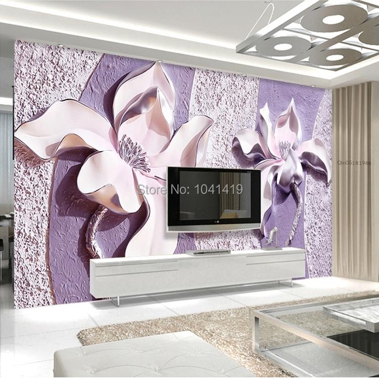 Niestandardowe Zdjęcia Tapety Stereoskopowe 3D Kwiaty Salon Sofa Tło Tapeta Nowoczesna Home Decor Pokoju Krajobraz Malowidła Ścienne 7