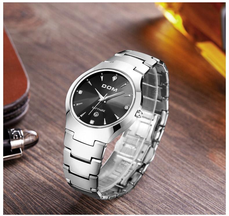 Hk dom luksusowe top marka męska zegarek wolframu stal wrist watch wodoodporna biznesu kwarcowy zegarek fashion casual sport watch 12