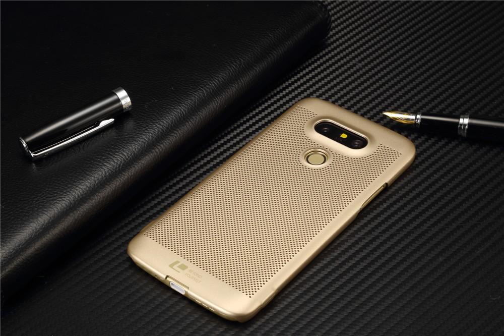 Luksusowa marka ultra thin Nowy siatka powrót pokrywy skrzynka dla LG przypadkach i pokrowce na g5 G5 oryginalne akcesoria 5