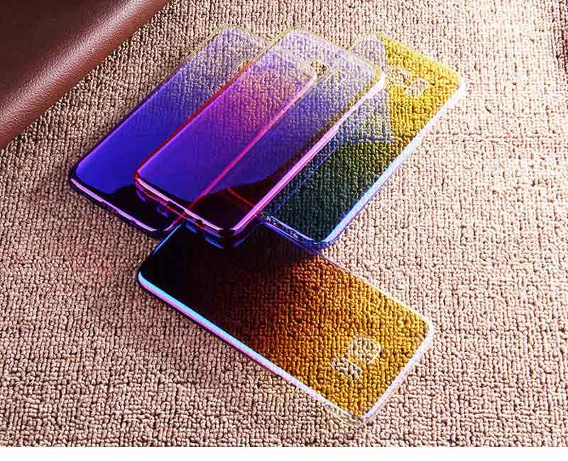 Kolorowe case do samsung galaxy s7 edge s8 plus s8 case gradientu kolor pc mocno plecy pokrywa dla samsung s8 s7 krawędzi case artisome 16