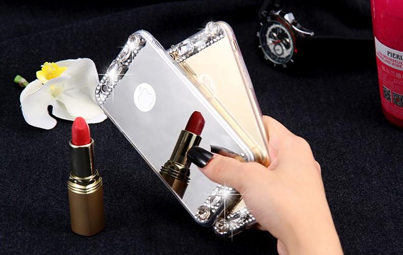 Dla iphone 6 7 case glitter lustro sprawach phone bag dla iphone 7 6 6 s plus 5S 5 se diamond case do samsung s8 plus s6 s7 krawędzi 11