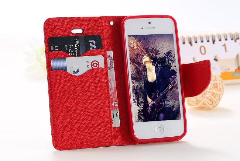 Podwójny kolor klapki skóra telefon torba case dla iphone 6 7 6 s plus 5 5S se gniazda kart + stojak kabura pokrowiec case dla iphone 7 6 6 s 1