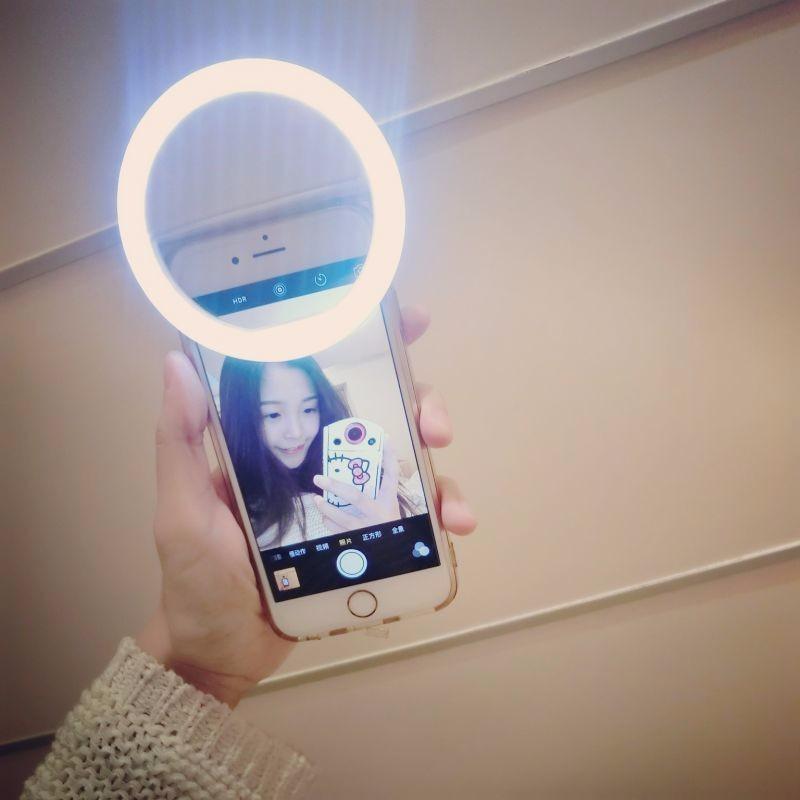 Luksusowe Uniwersalne Świetlna LED Flash Light Up Selfie Telefonu Pierścień Dla iPhone 6 6 S Plus LG Samsung Dla Xiaomi Huawei Lenovo Oneplus 5