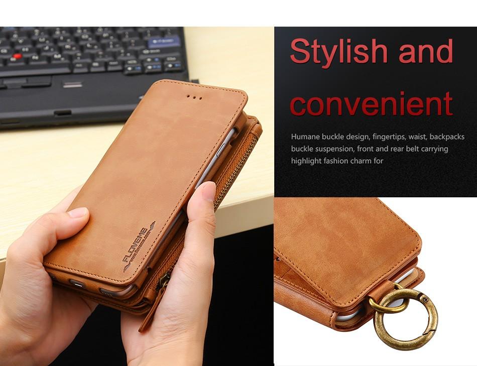 Floveme oryginalny retro skóra telefon case for iphone 6s 6 4.7 dla iphone6s iphone 6s przypadki metalowy pierścień coque pokrowce na iphone 7 5