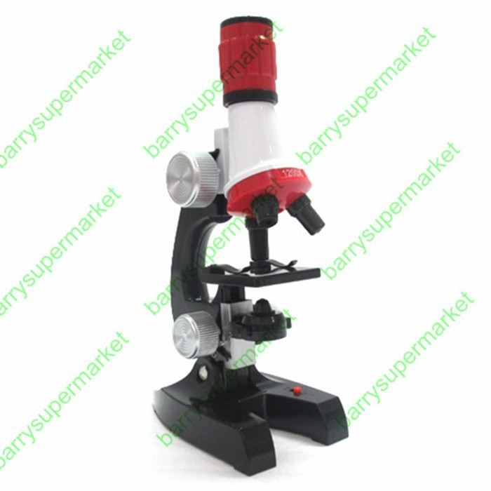 Birthday gift 10x 100X 400X trinocular biological focusable Science&Education microscope kit refined scientific Instrument toy