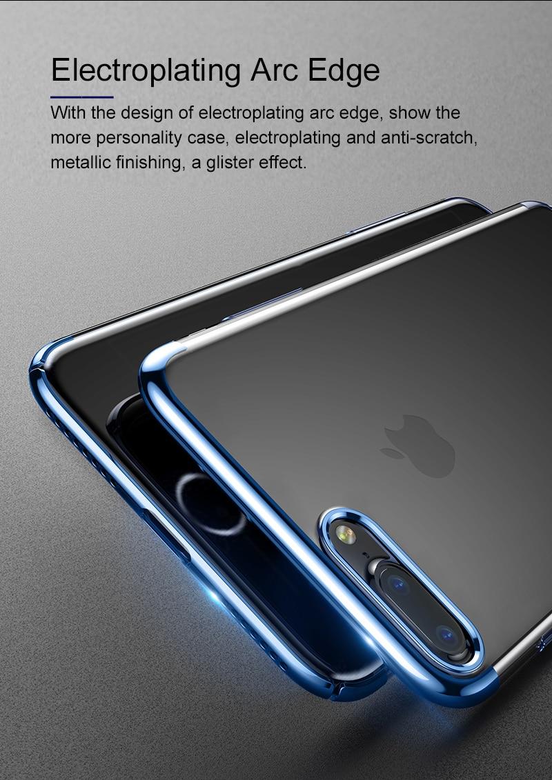 Baseus pc hard case dla iphone 7 pokrywa dla iphone 7 plus case anti-scratch galwanizacja telefon torba ochronna shell coque 4