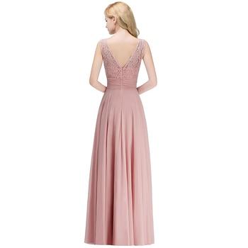 bb9ac3c4113ae Vestido dama de honor Dusty Pink Lace Bridesmaid Dresses Long 2019