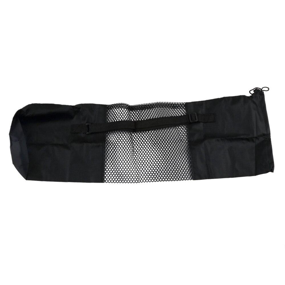2016 torba mochila torby sportowe yoga popularne przenośne yoga mat beautity polyester nylon mesh czarny plecak dla zdrowia sport 6