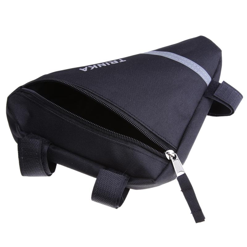 Gorąca sprzedaż Wodoodporne Torby Trójkąt Saddle Bag Rowerów Jazda Na Rowerze Rower Przednia Tube Rama Etui akcesoria Sakwy H1E1 2